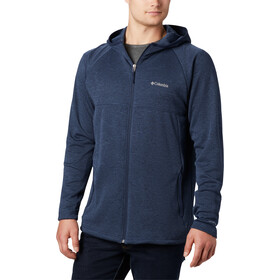 Columbia Maple Lake Capa Intermedia Capucha Cremallera Completa Hombre, collegiate navy